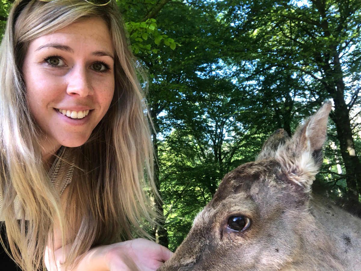 I hate to admit it, but deer selfies would've been much easier with a selfie stick
