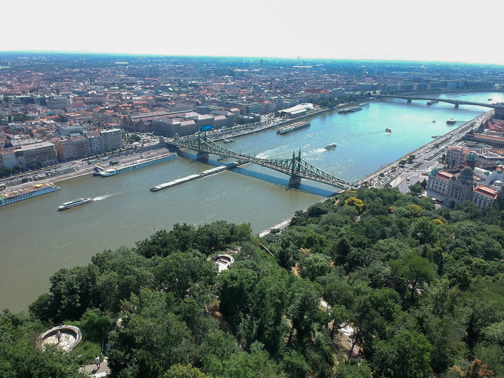 The view of the Danube and the bridge I crossed to get to Buda