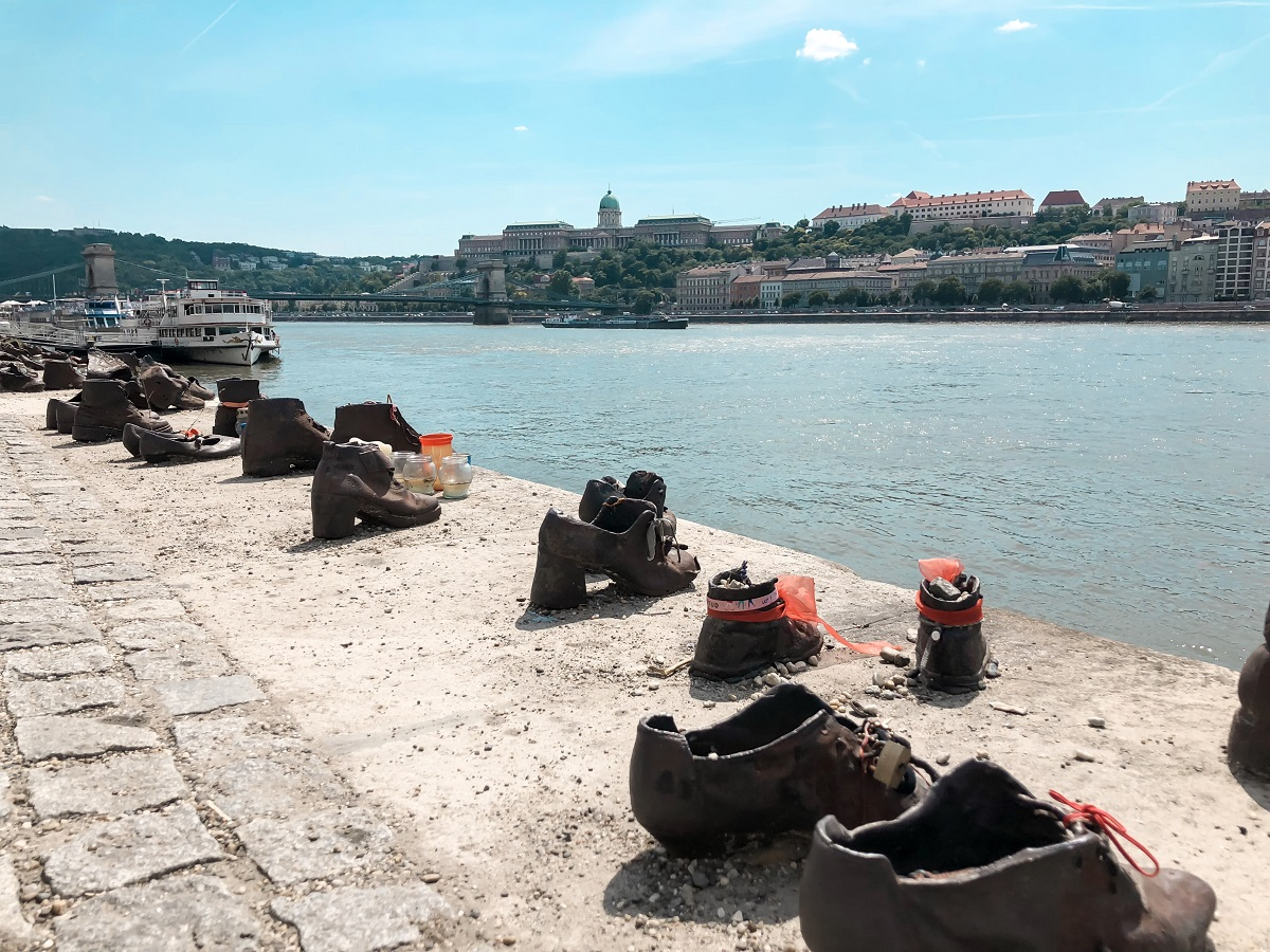 The shoes to commemorate the Hungarian Jews who were shot on the Danube in the second World War