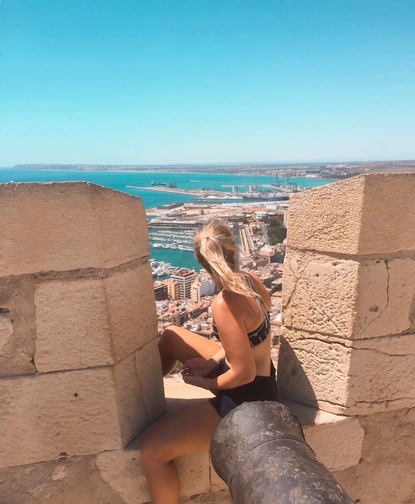 View from the top of the castle in Alicante