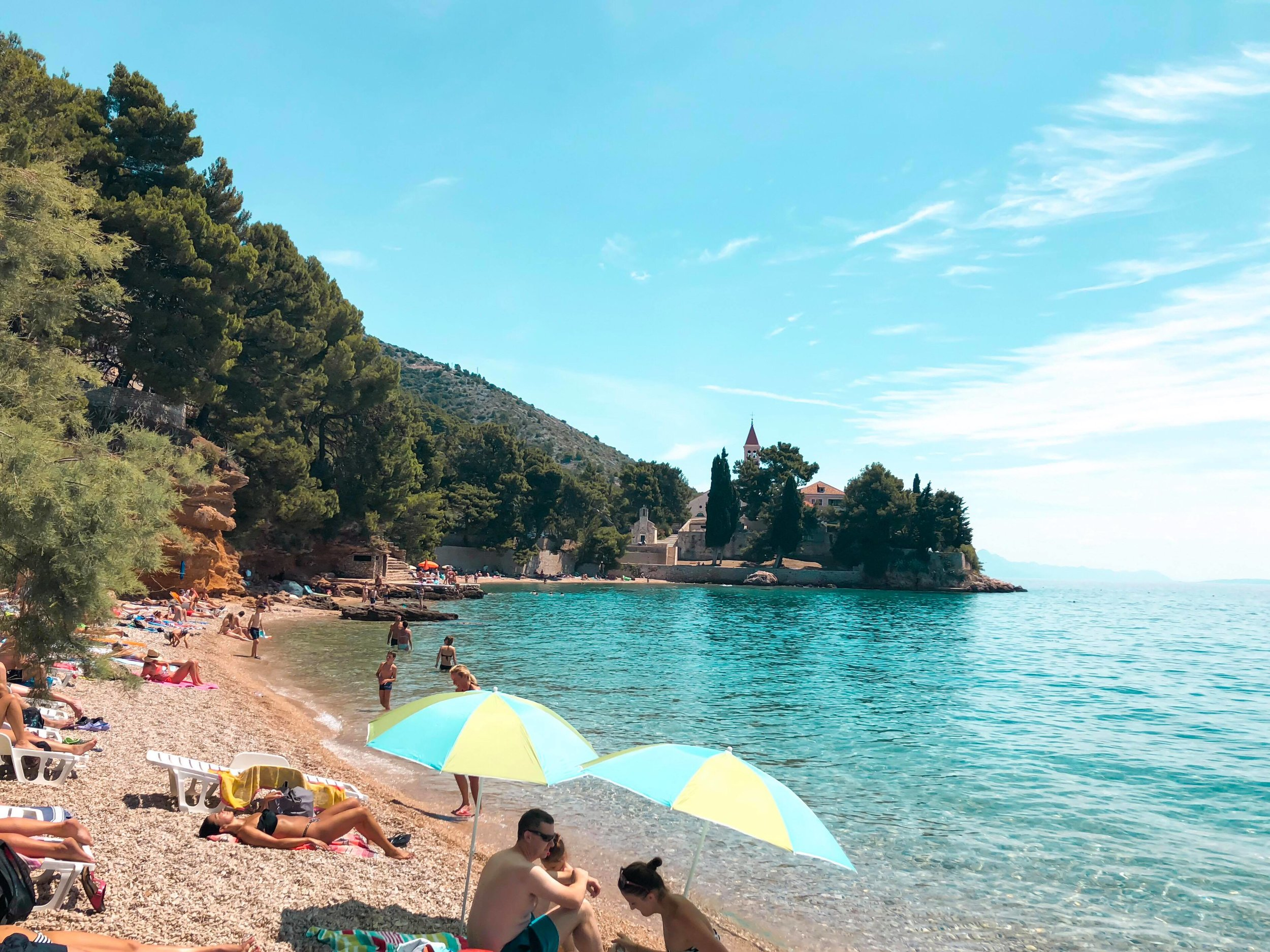 I don't ACtually know the name of this beach in Croatia but I loved it!