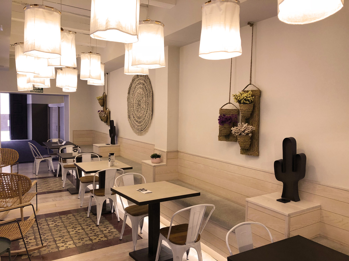The common area of For You Hostel Seville
