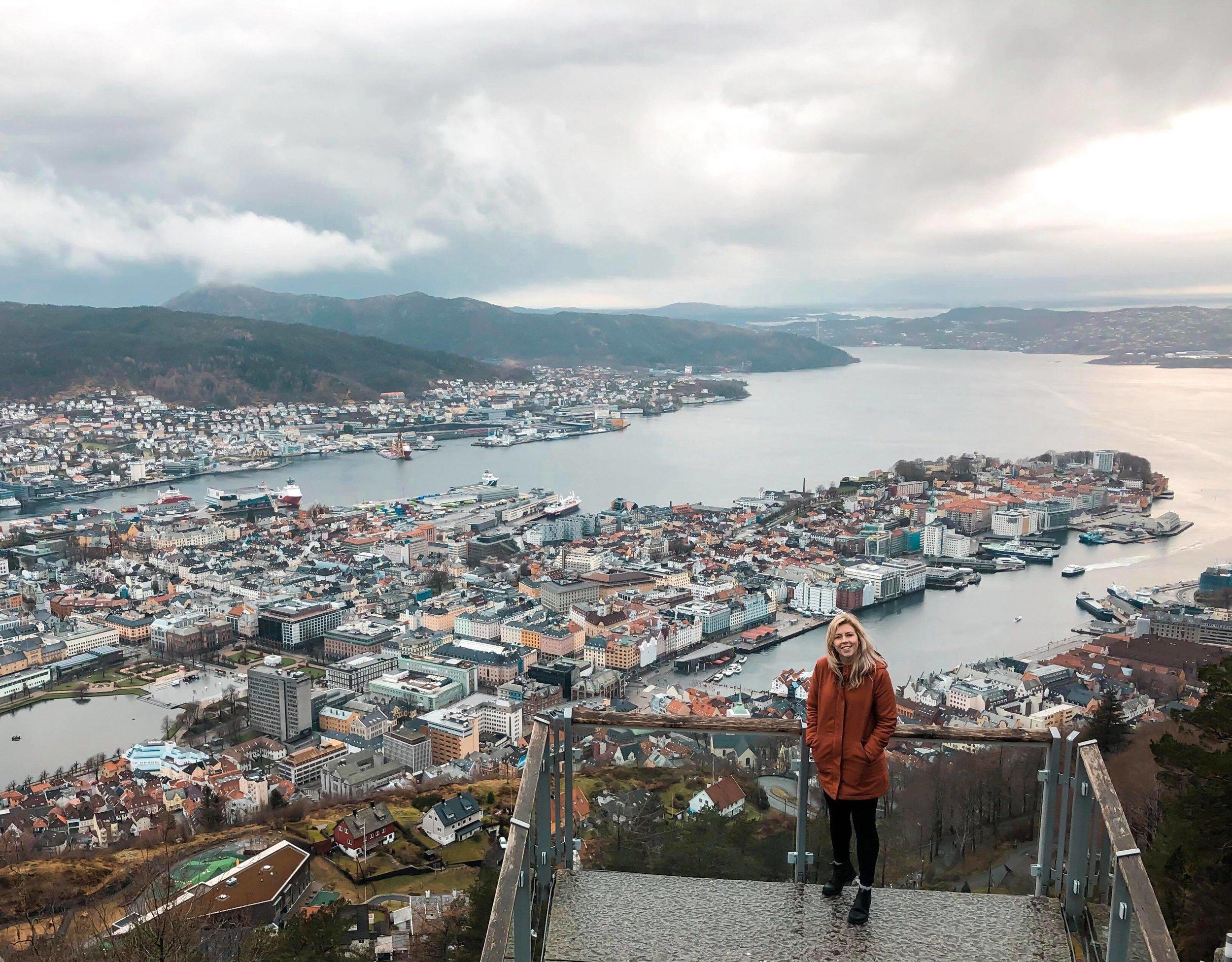 View of Bergen from Mt Fløyen