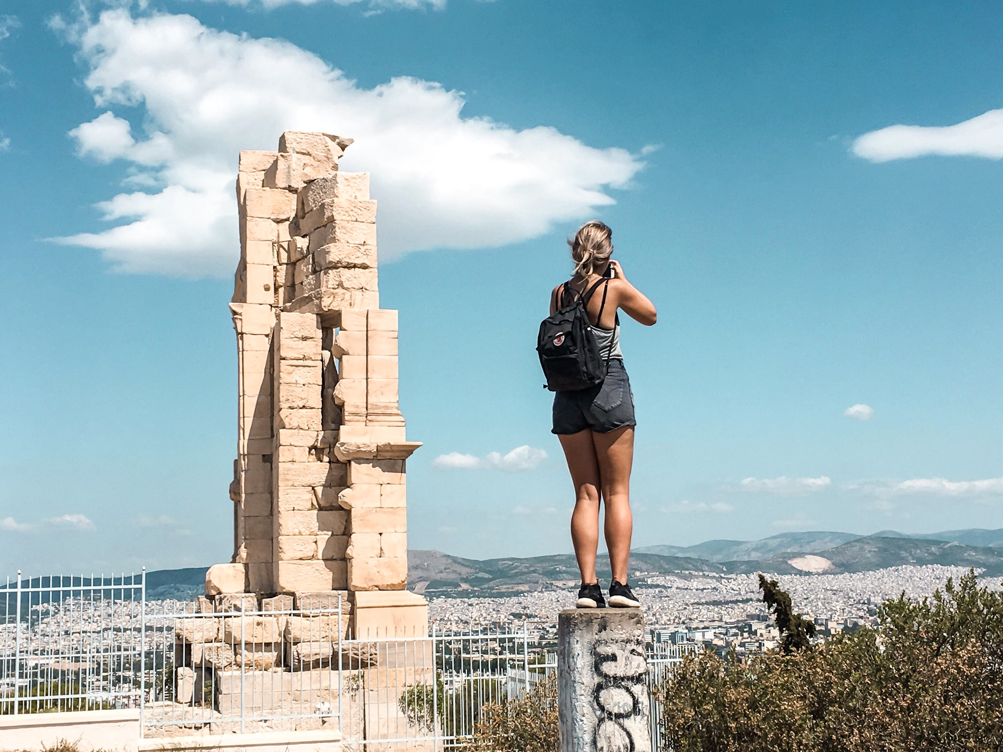 Capturing the sights of Europe, like the ancient city of Athens