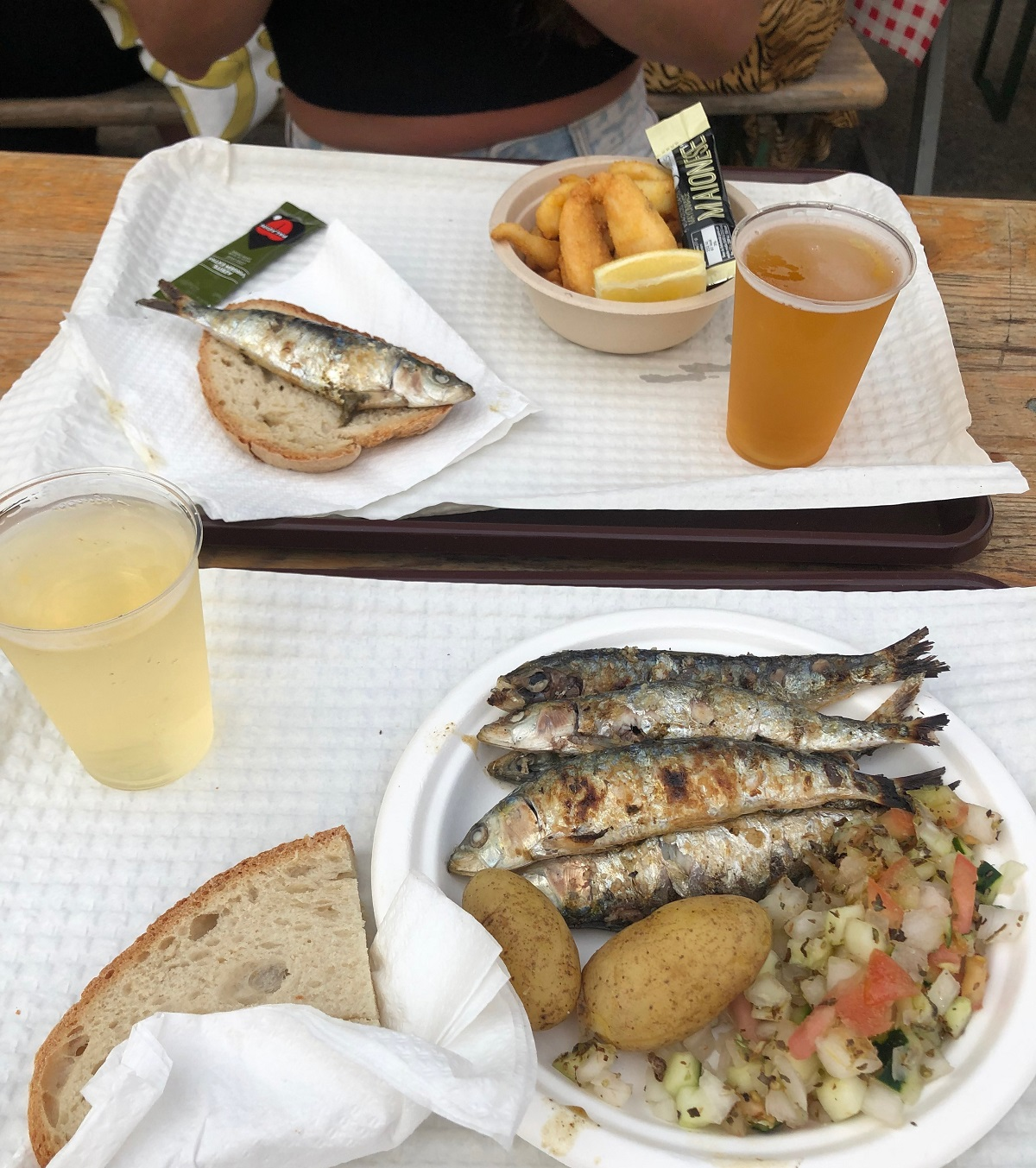 Eating sardines from a street market in Portugal isn't something I would've pictured myself trying but I'm much more experimental these days!
