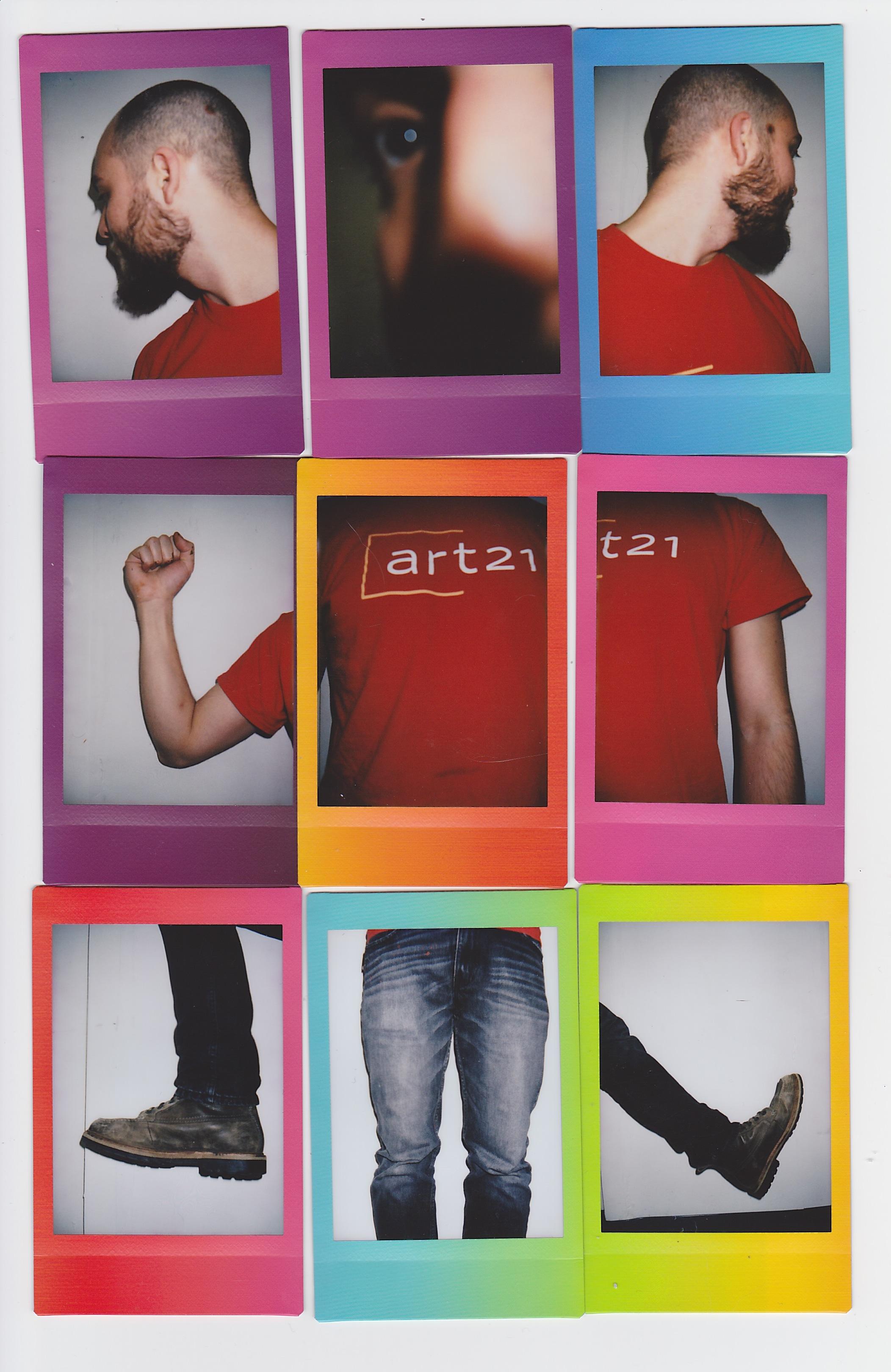 Self-Portrait , Polaroid Collage, 10 x 6 inches, 2017