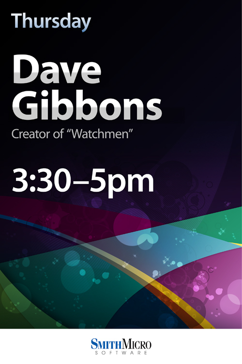 Event poster for artist signings.