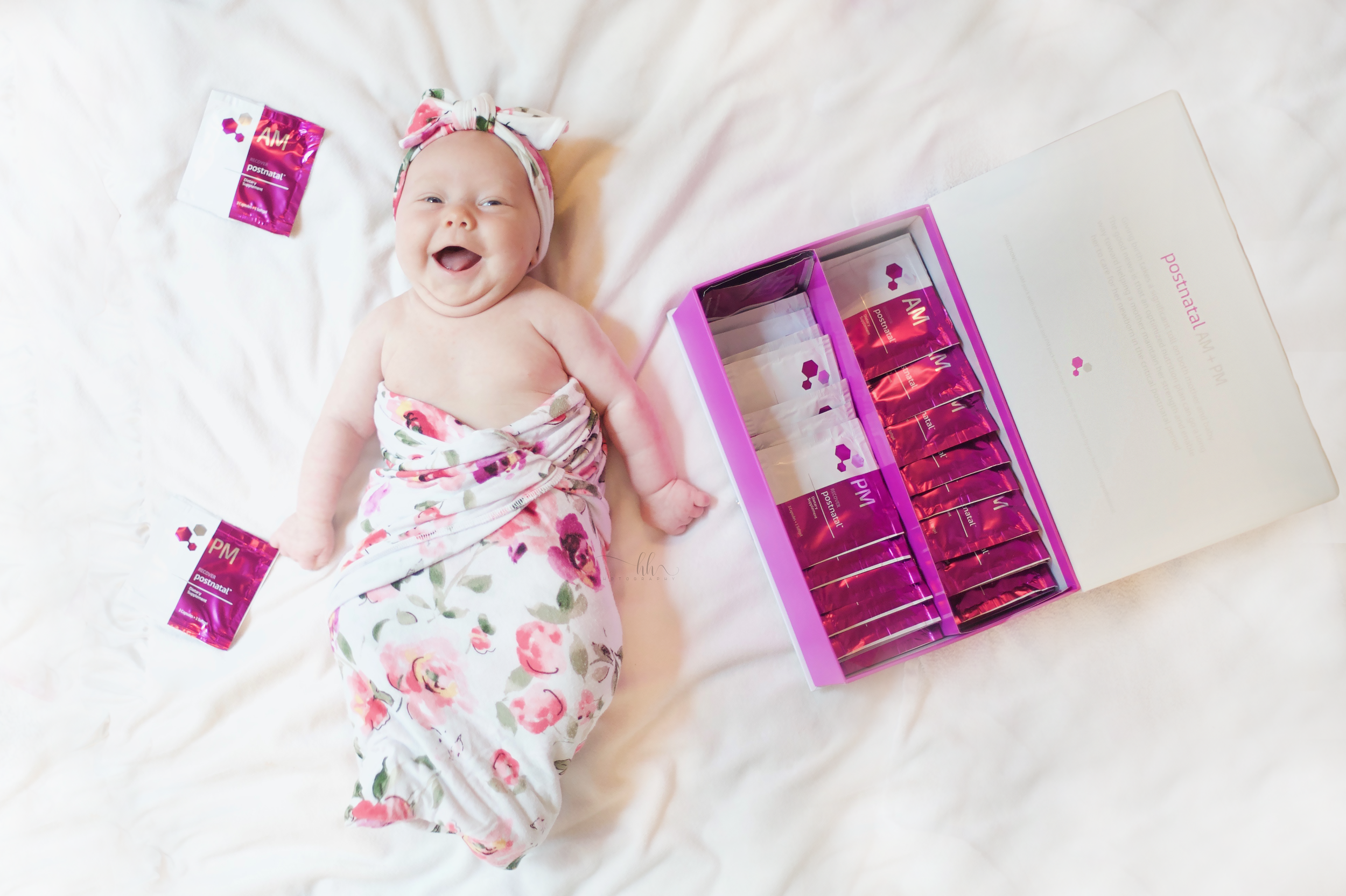 FUN FACT: Ava was actually just about 3 months in the photo above! She sure loves when mama takes her vitamins!