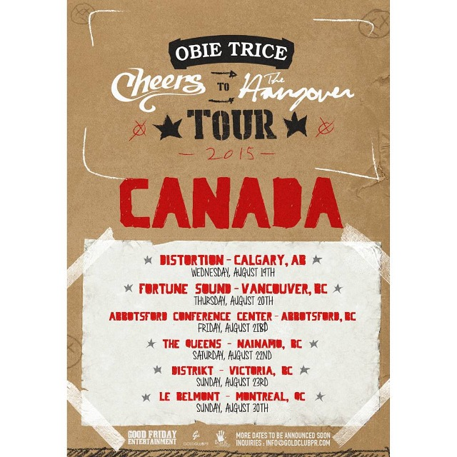 Obie Trice Canadian Promo Tour