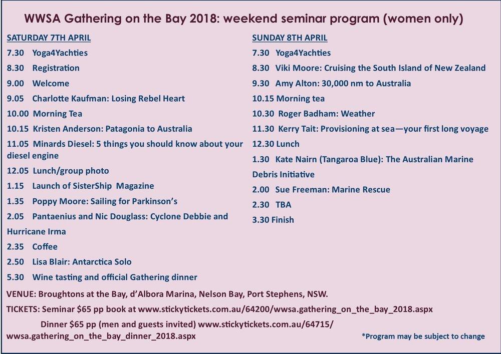WWSA 2018 Events