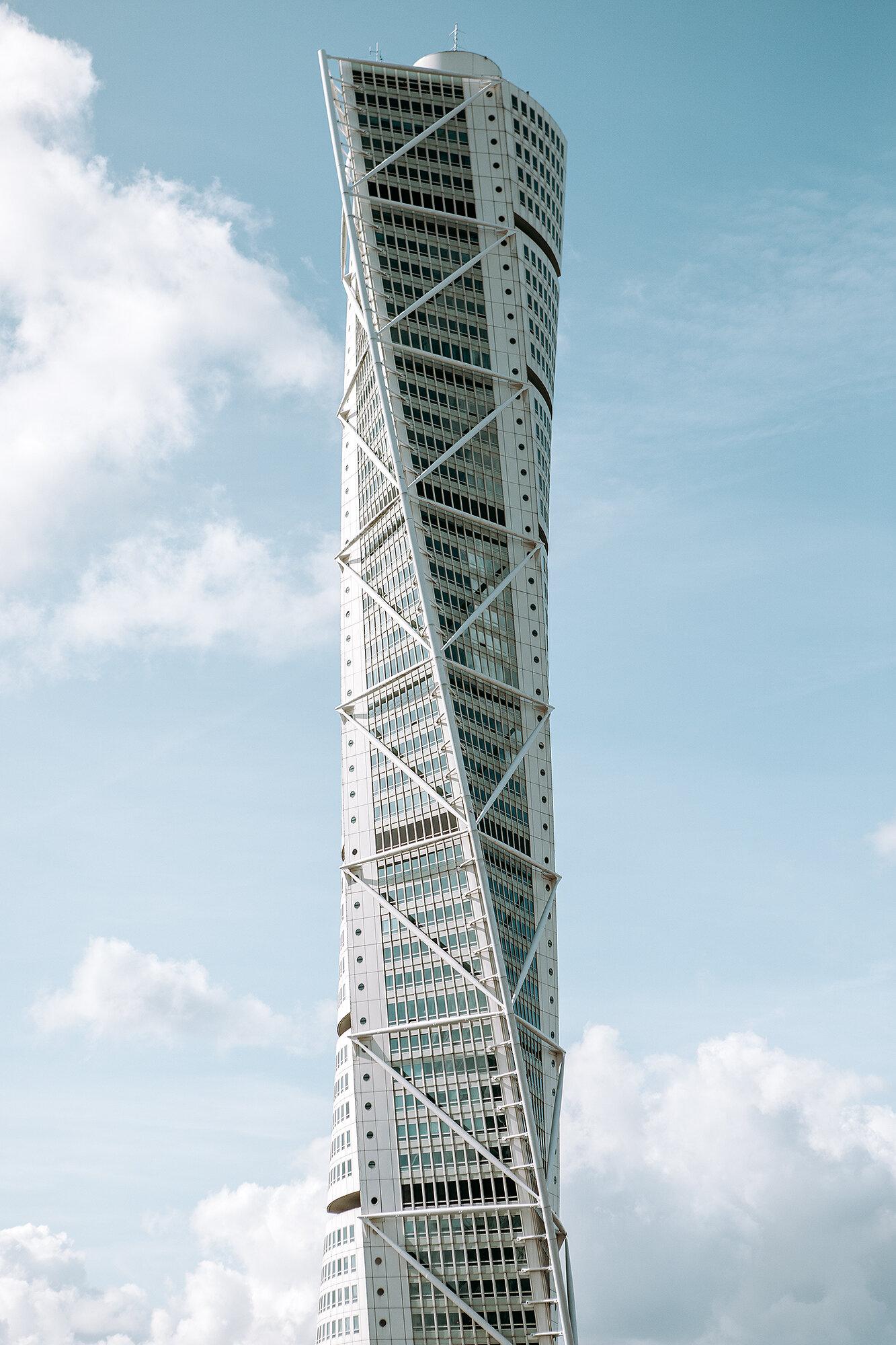 The Turning Torso in Malmö   Scandinavia's tallest building