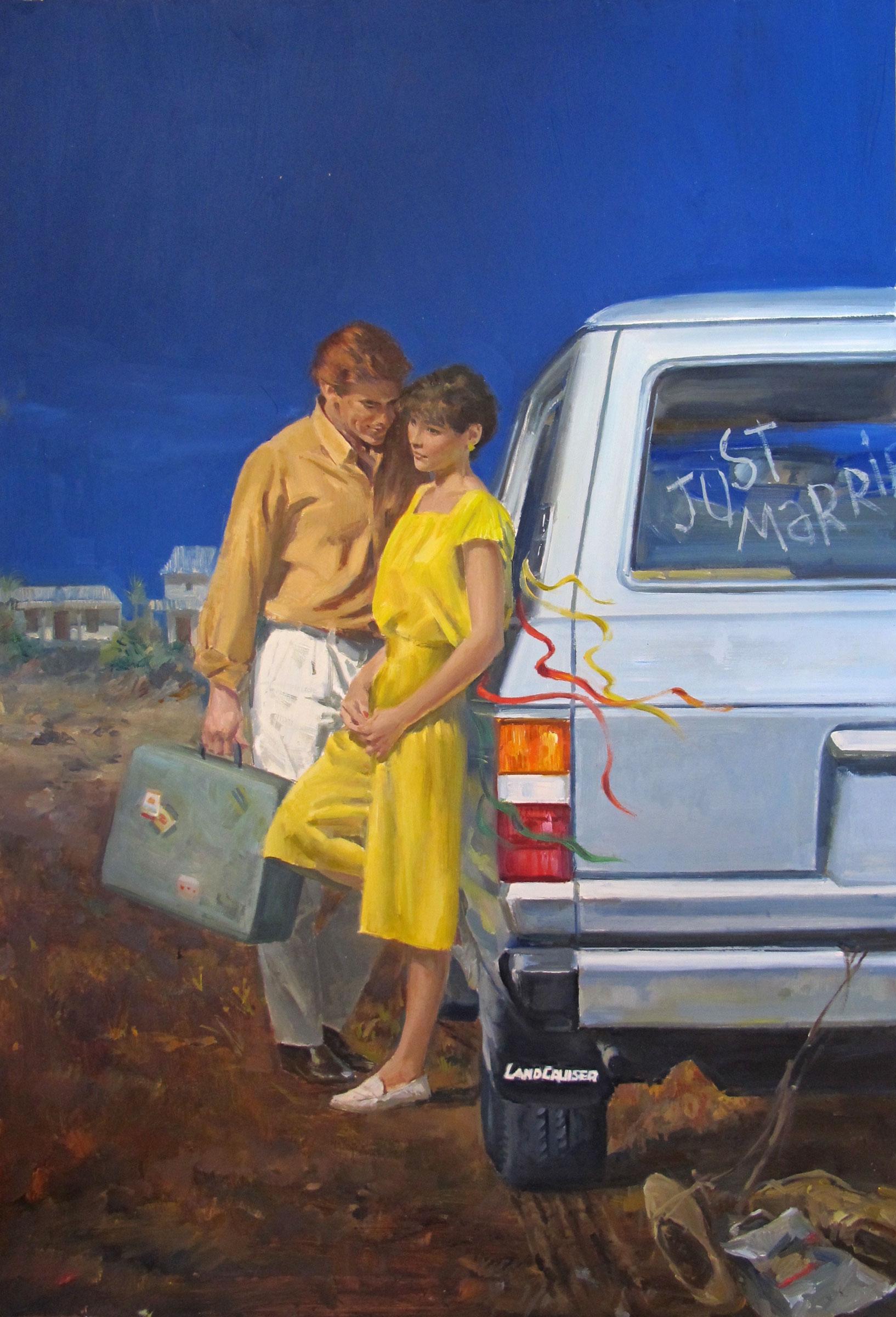 "Man Shy, 1986 – 13.5""x20"" – oil *"