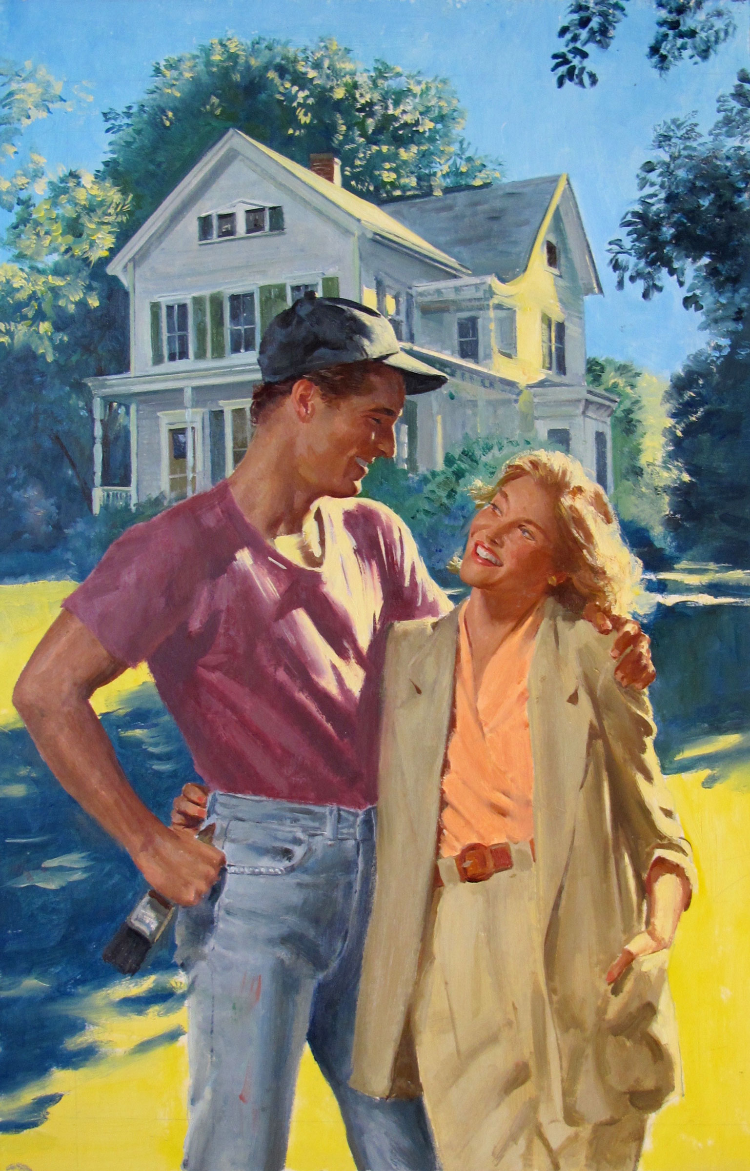"Home Safe, 1990 – 10""x16"" – oil"
