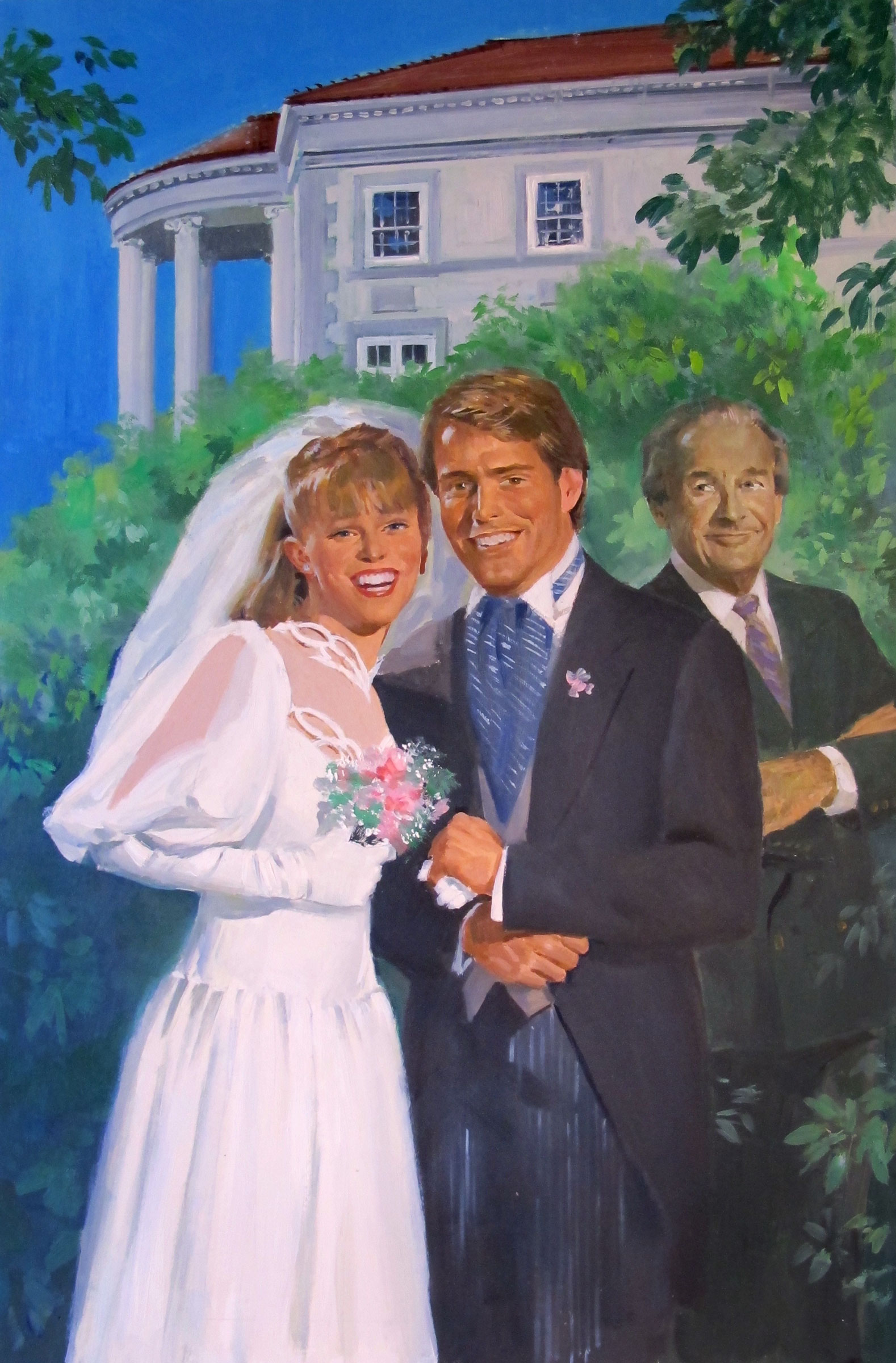 "First Comes Marriage – 10""x15.5"" – oil (NFS)"