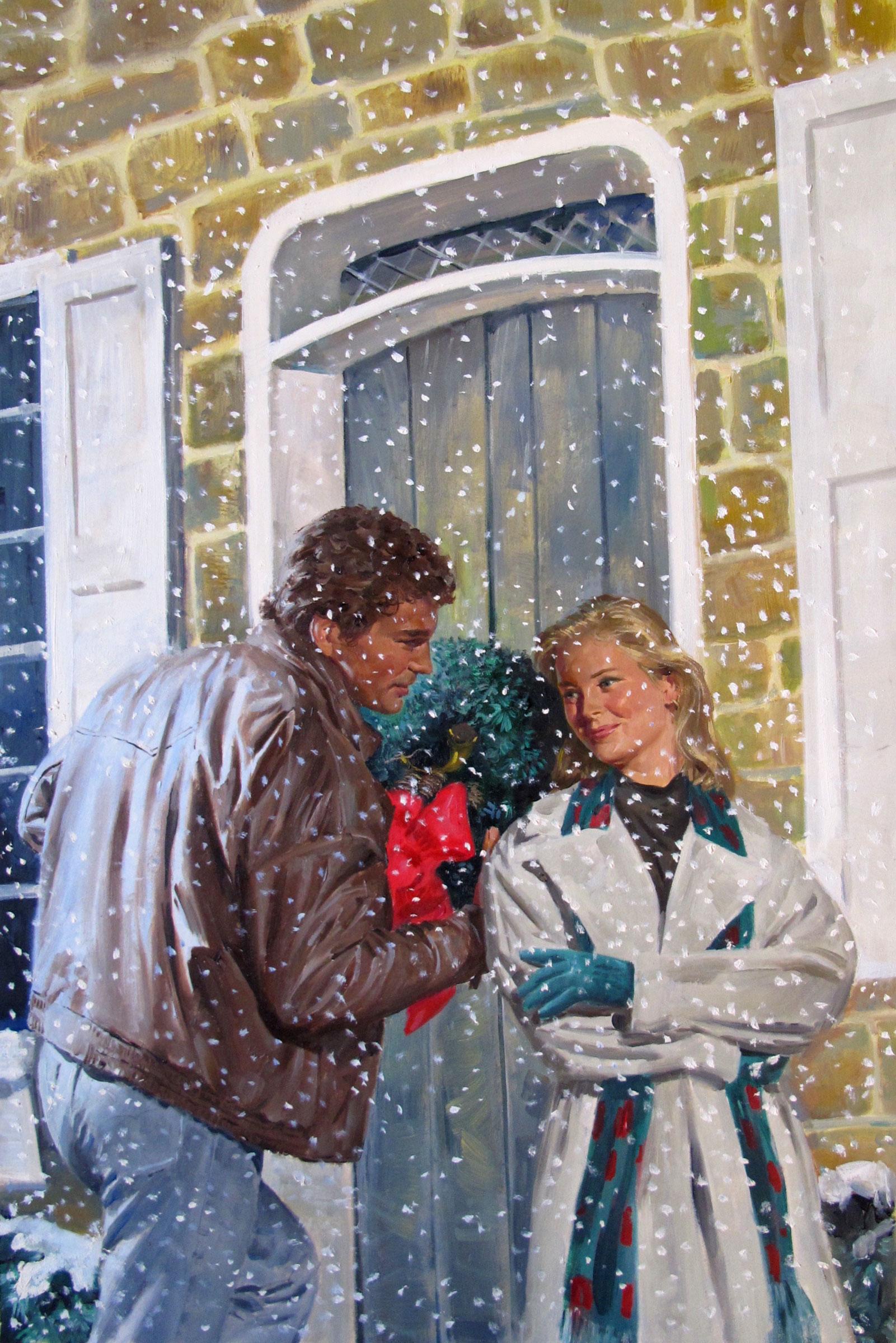 "Christmas Angel, 1993 – 11.5""x18"" – oil (BGSU)"