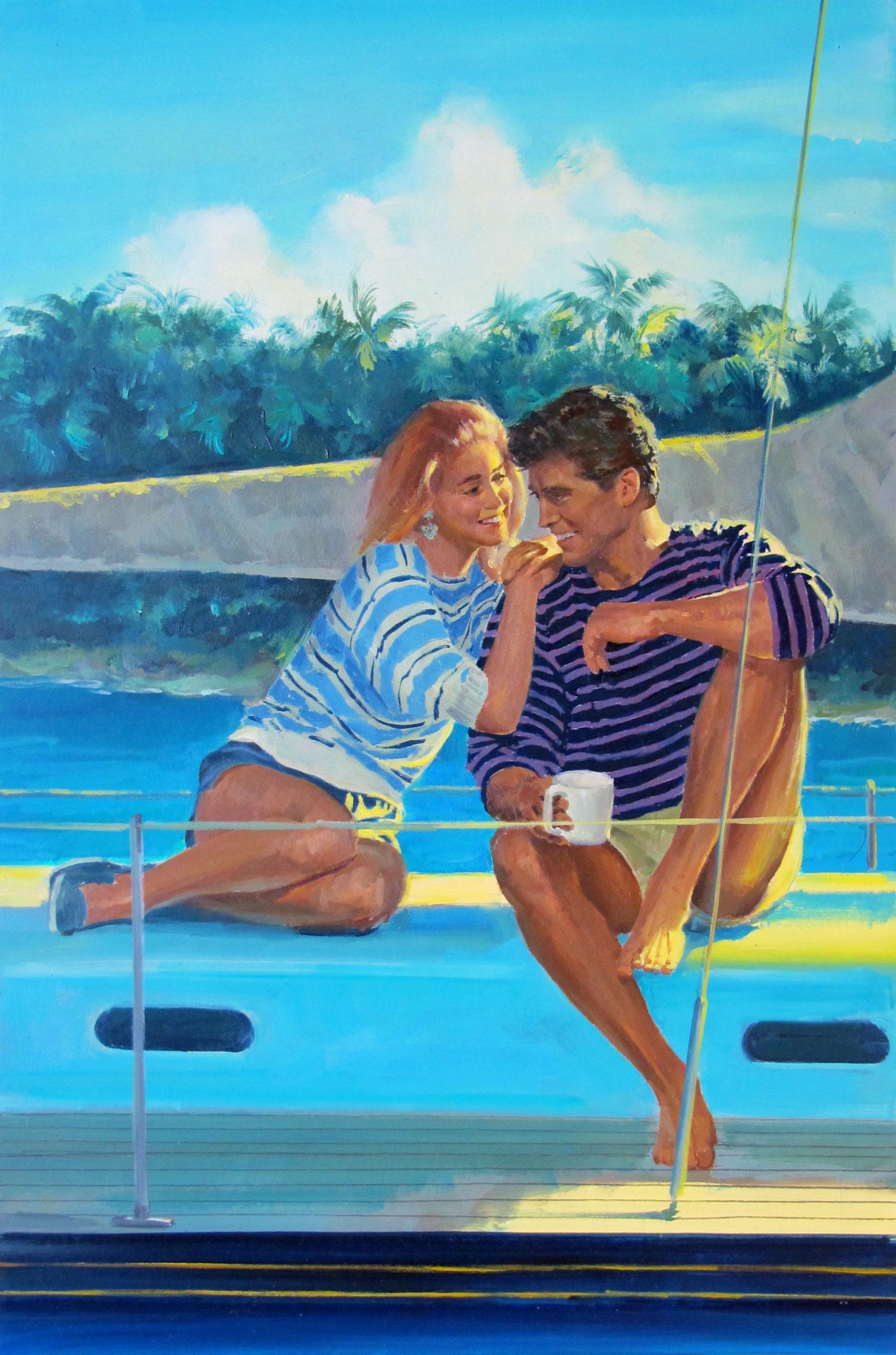 """Tidal Wave, 1990 – 10""""x15"""" – oil"""