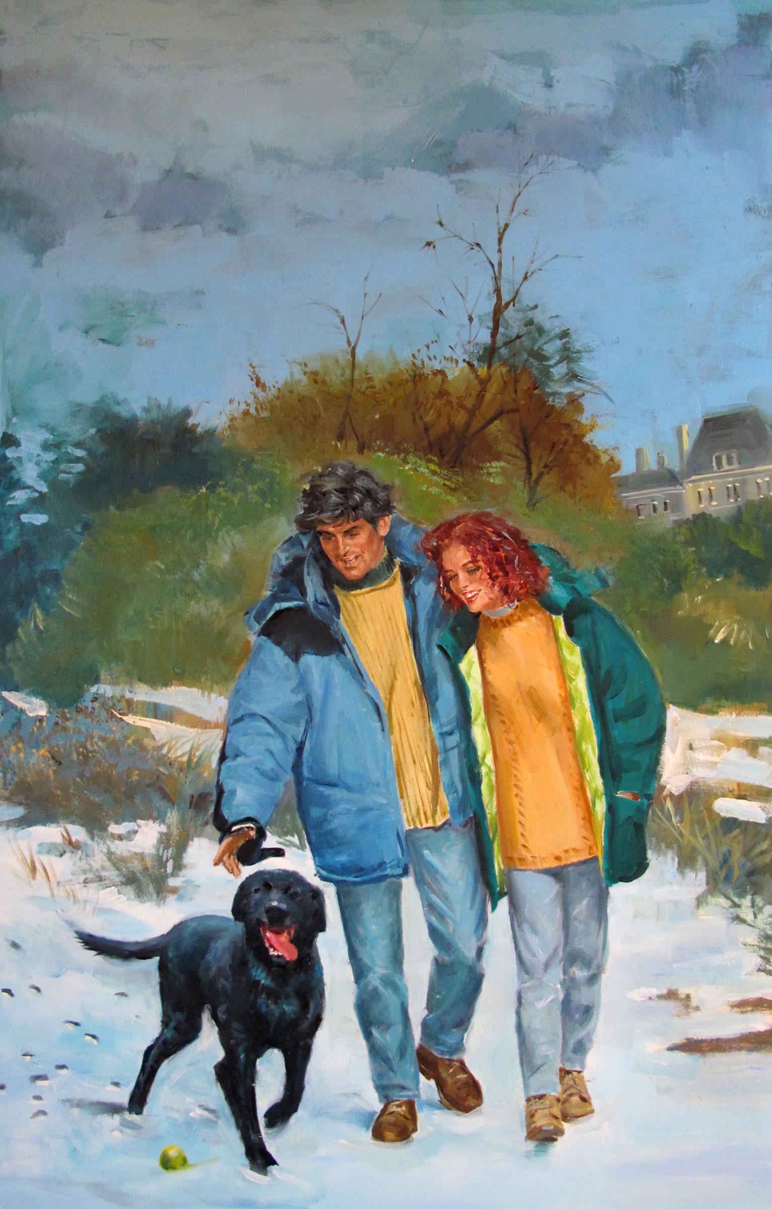 """MacBride's Daughter, 1996 – 12""""x19"""" – oil"""