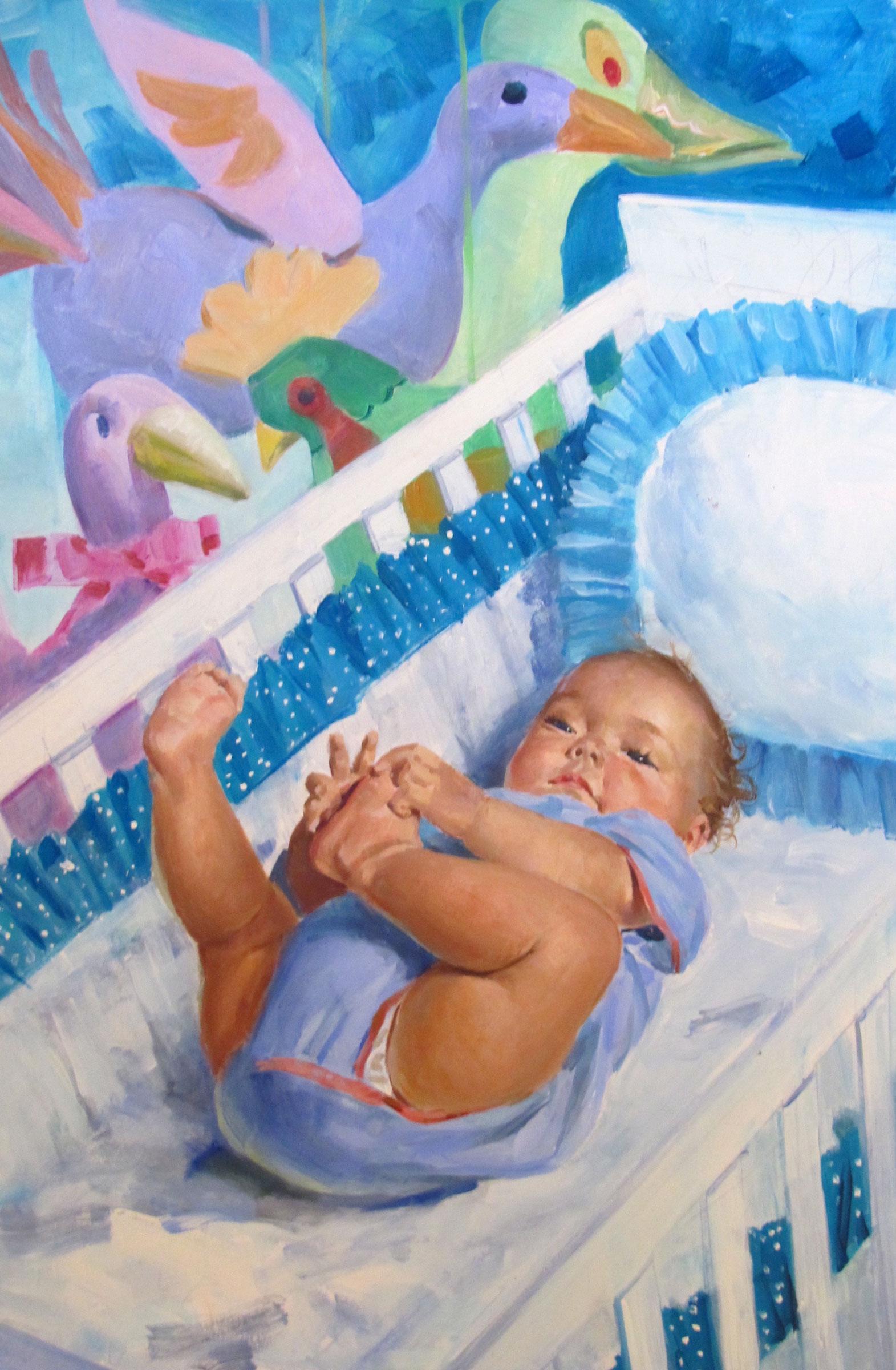 "Baby in a Million, 1997 – 10""x15.5"" – oil"