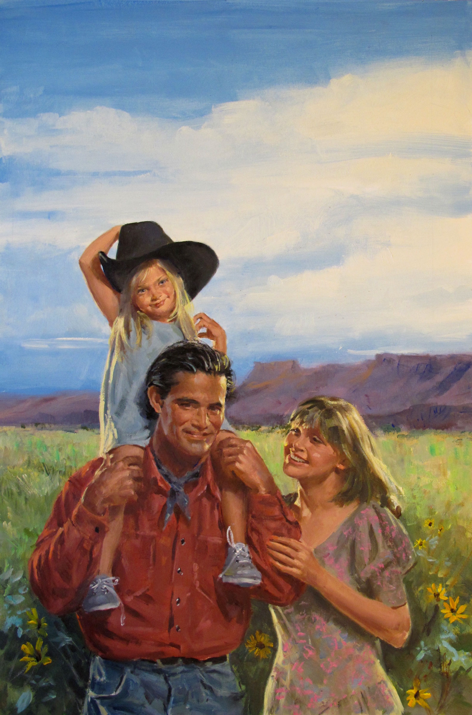 "A Groom for Gwen, 1997 – 12""x18.5"" – oil"