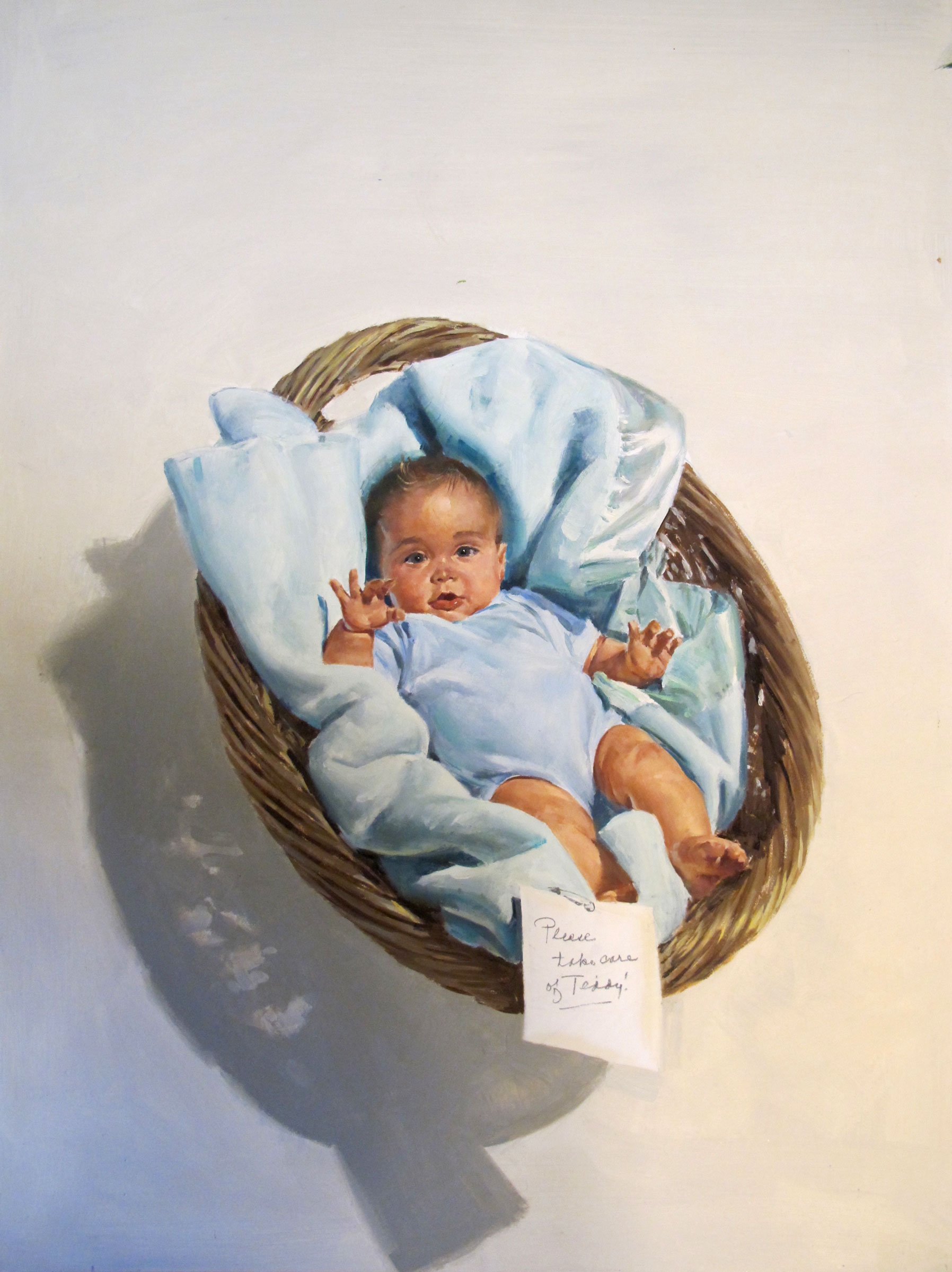 "One-Week Baby, 1997 – 15""x20"" – oil"
