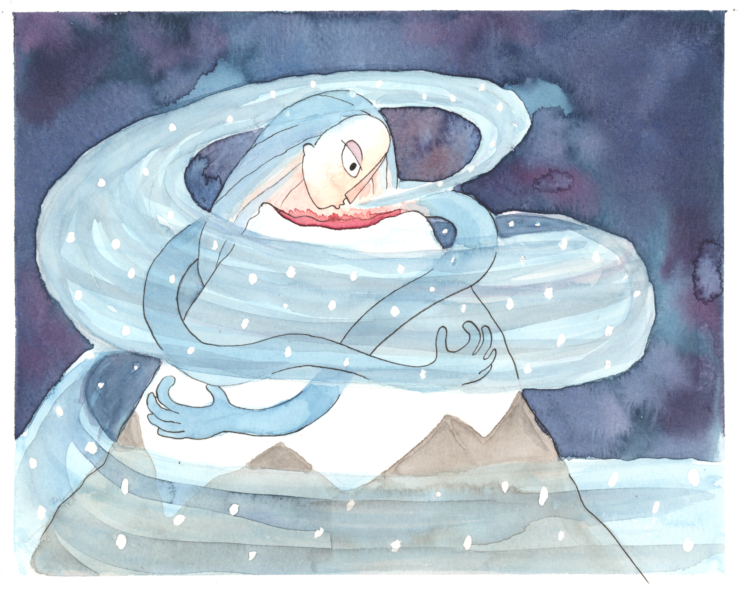 The Snow Queen Visits Vesuvius