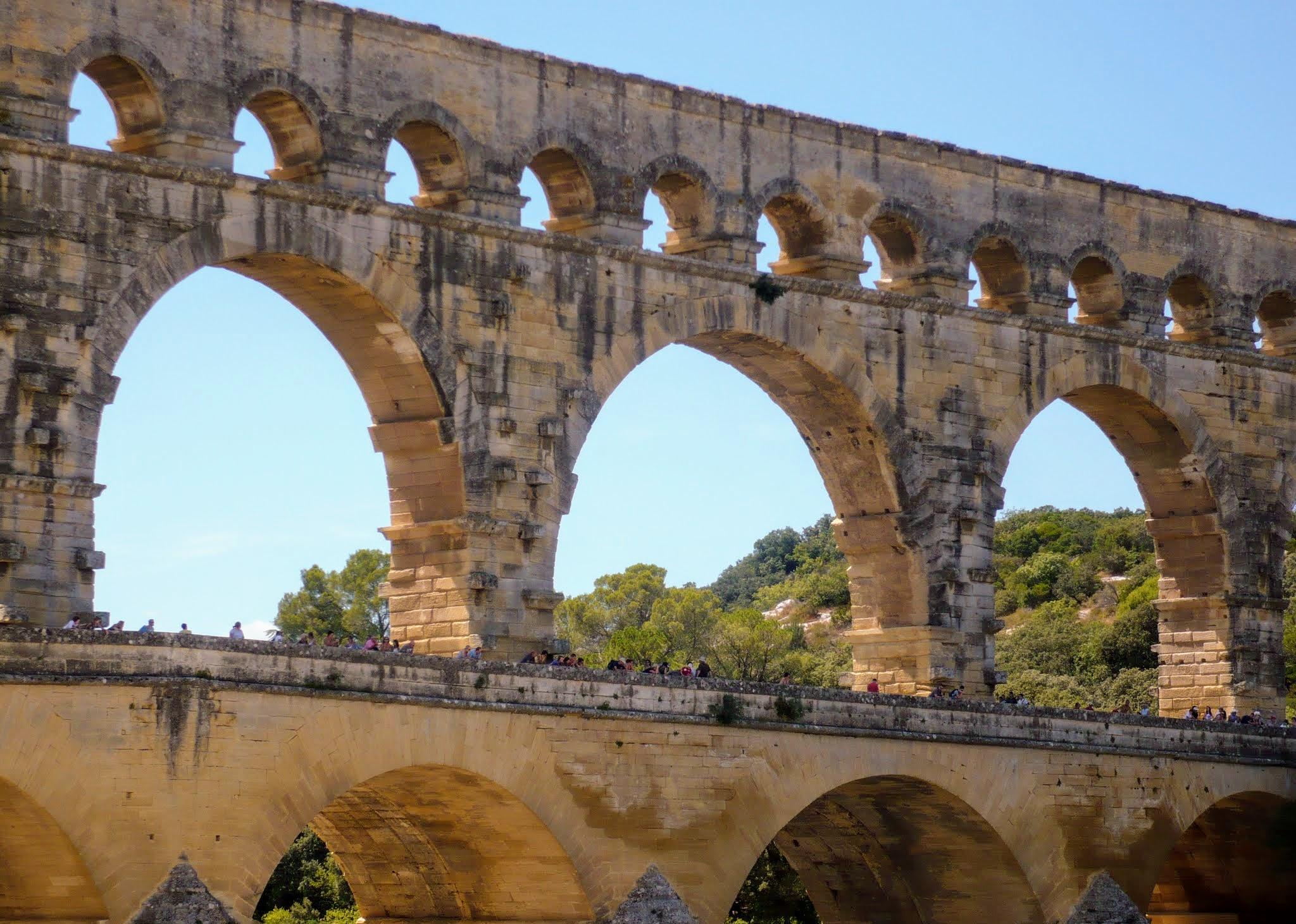 The Pont du Gard, a Roman aqueduct now a UNESCO heritage site