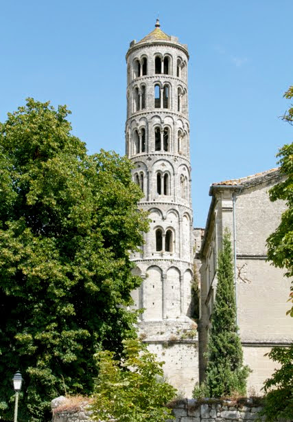 The Tour Fenestrelle, part of Uzes Cathedral