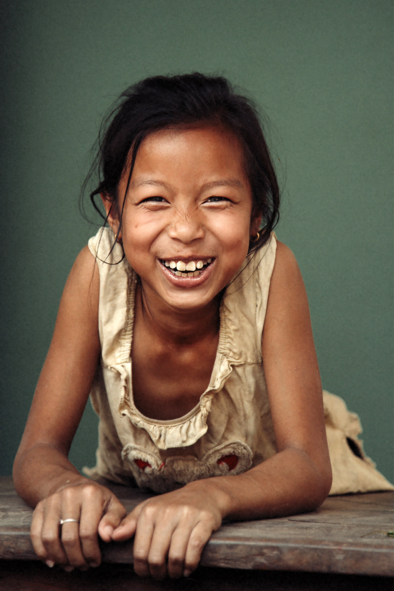 Portrait of a happy Lao girl.