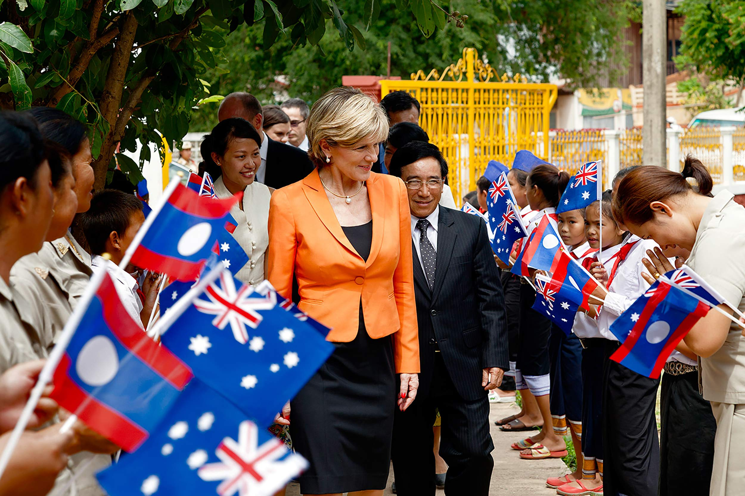Foreign Minister Julie Bishop visit to Laos, July 2014