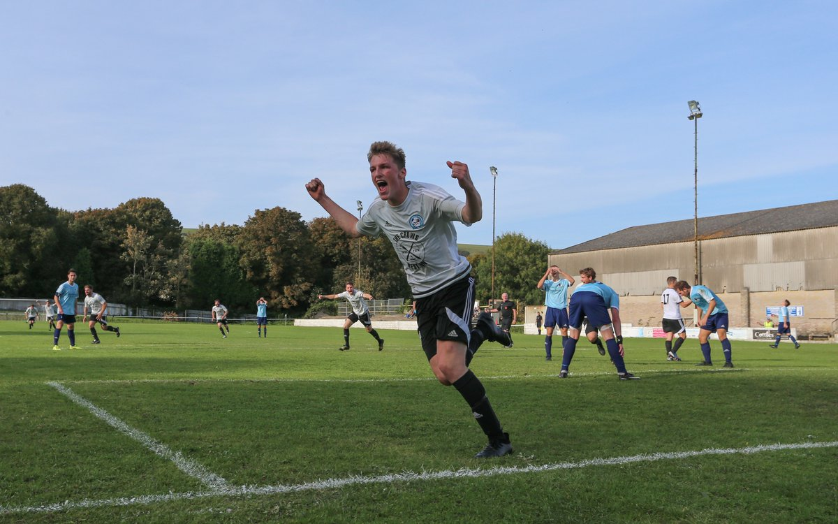 Cameron Beard nets the late winner for Swanage - the road to Wembley continues!