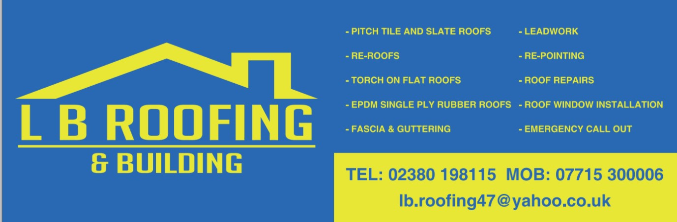 Main Stand Sponsor - L.B. Roofing - 07715 300006