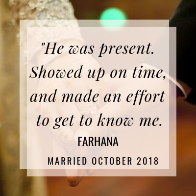 Discover how Farhana's powerful journey towards herself led her to The One!