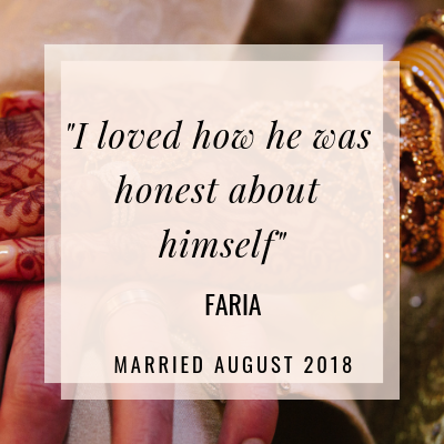 In this interview Faira tells us how love blossomed with a man she considered just a friend