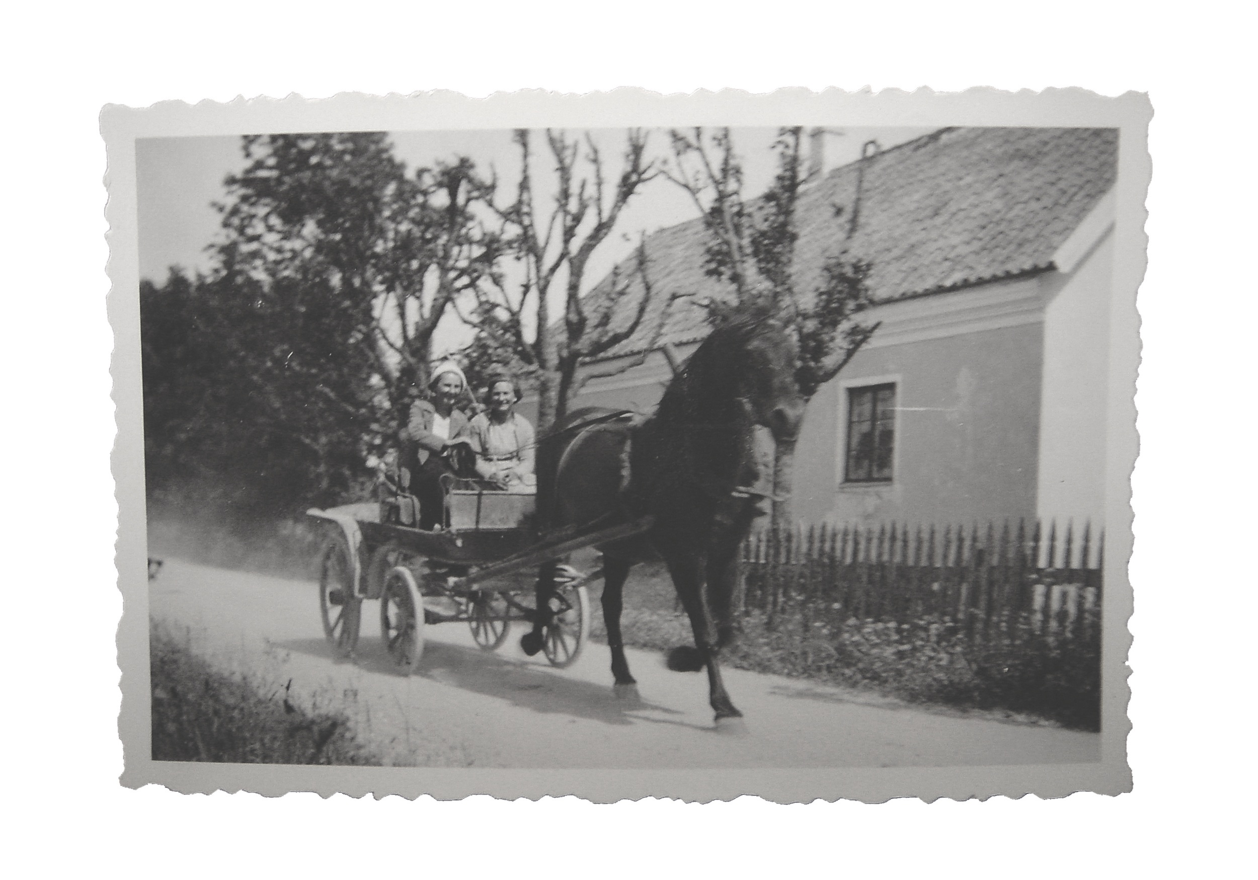 Häst och vagn var det som gällde här ca 1930.   Horse and carriage was what was here about 1930 .