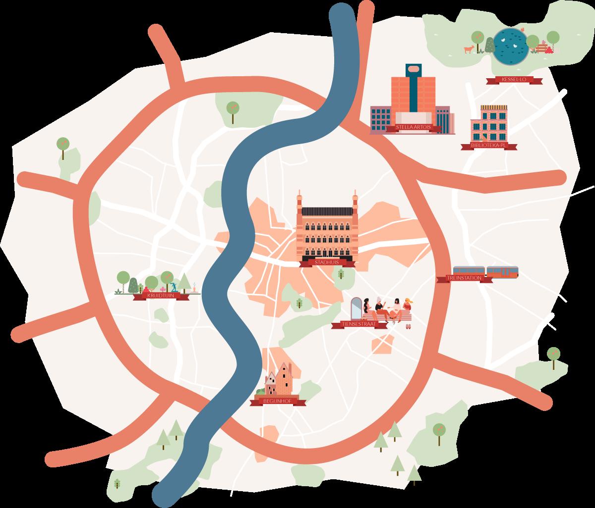 Map of Leuven