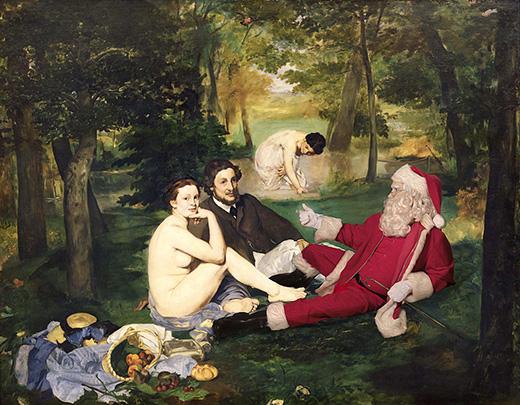 Le Dejeuner sur L'Herbe 1862-63 Musée d'Orsay, Paris