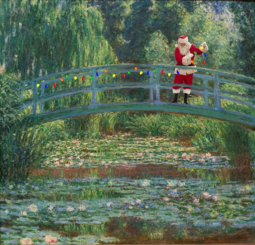Claude Monet –  The Japanese Bridge and Water Lily Pool, Giverny  – 1889 Philadelphia Museum of art