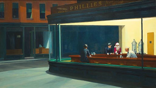 Edward Hopper – Nighthawks - 1942 - Art Institute of Chicago