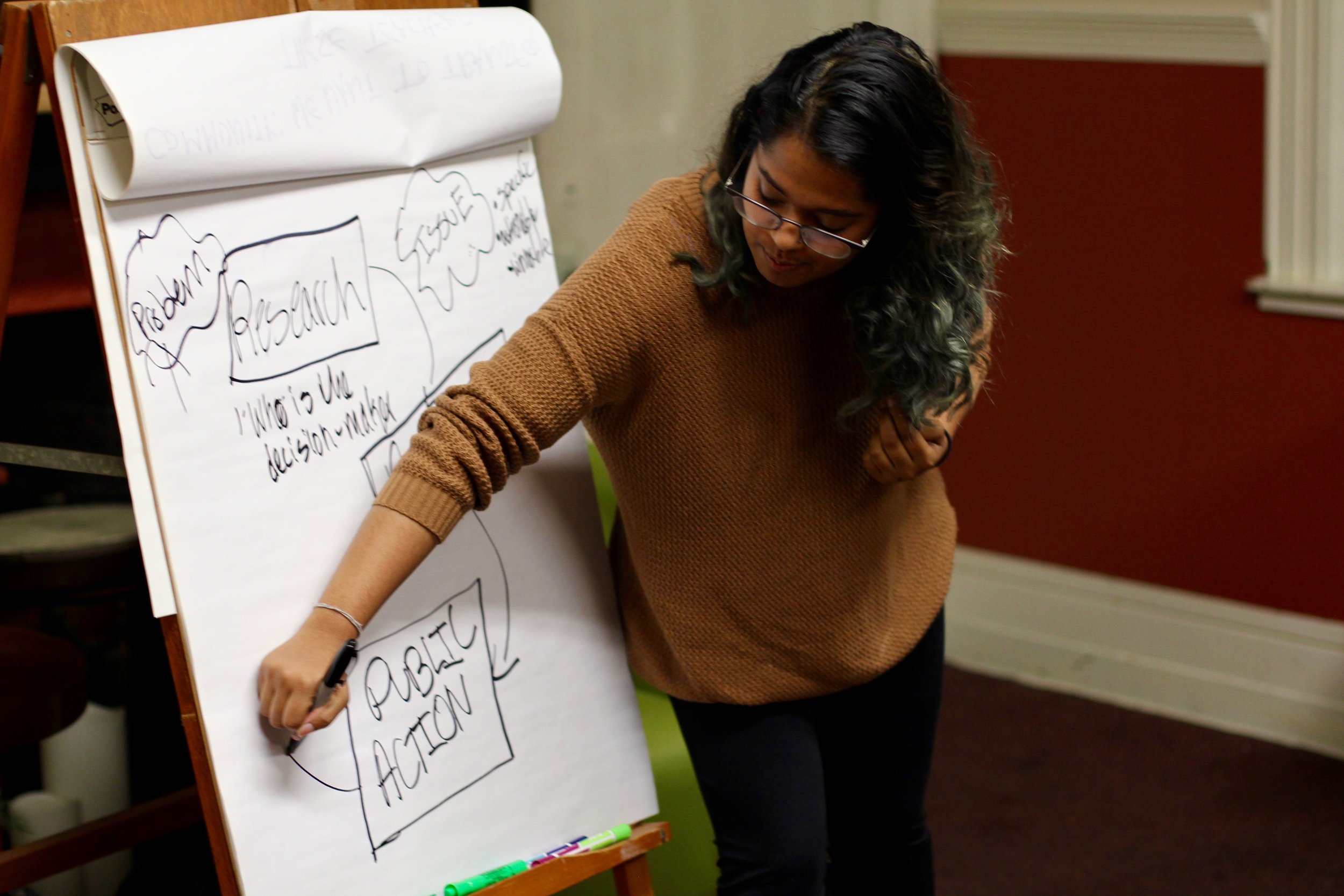 What is effective campaign strategy? Organizer Heleena Mathew shows the group