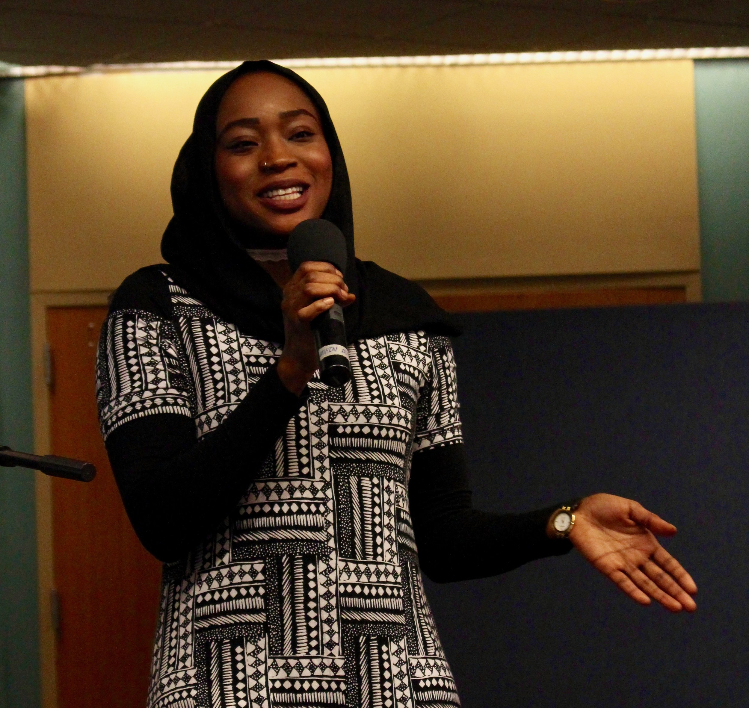 A 2017 keynote speaker,  Ekhlas Ahmed  shares her experiences as a Sudanese refugee and teacher at Casco Bay High School
