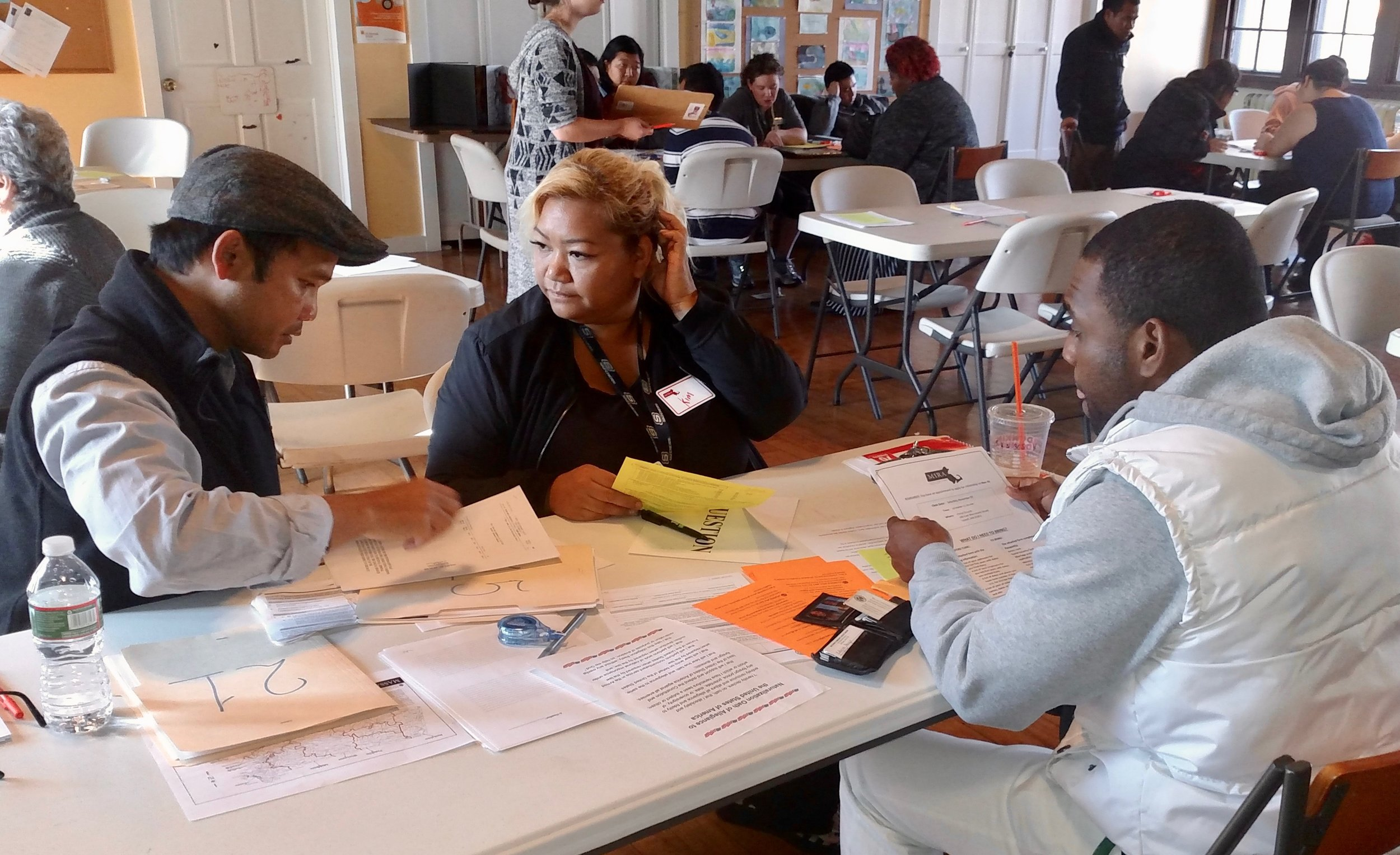 2016 Citizenship Clinic, with support from the Massachusetts Immigrant and Refugee Advocacy Coalition (MIRA)