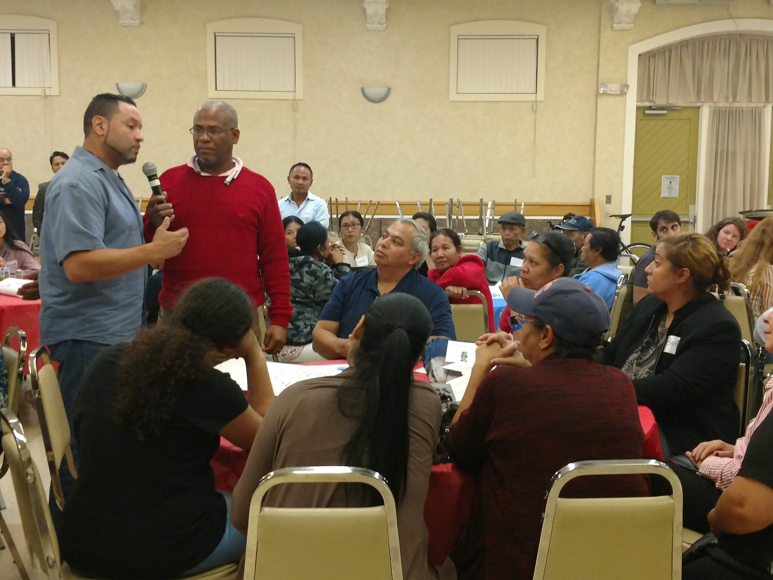 Residents gather to discuss Lowell's current voting system and the voting rights lawsuit filed against the city.