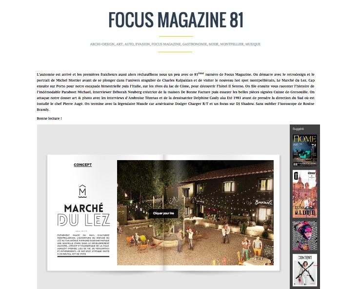 Focus Magazine #8 1 a fait un tour du côté du  Marché du Lez  et en a profité pour passer par La Baraquette.