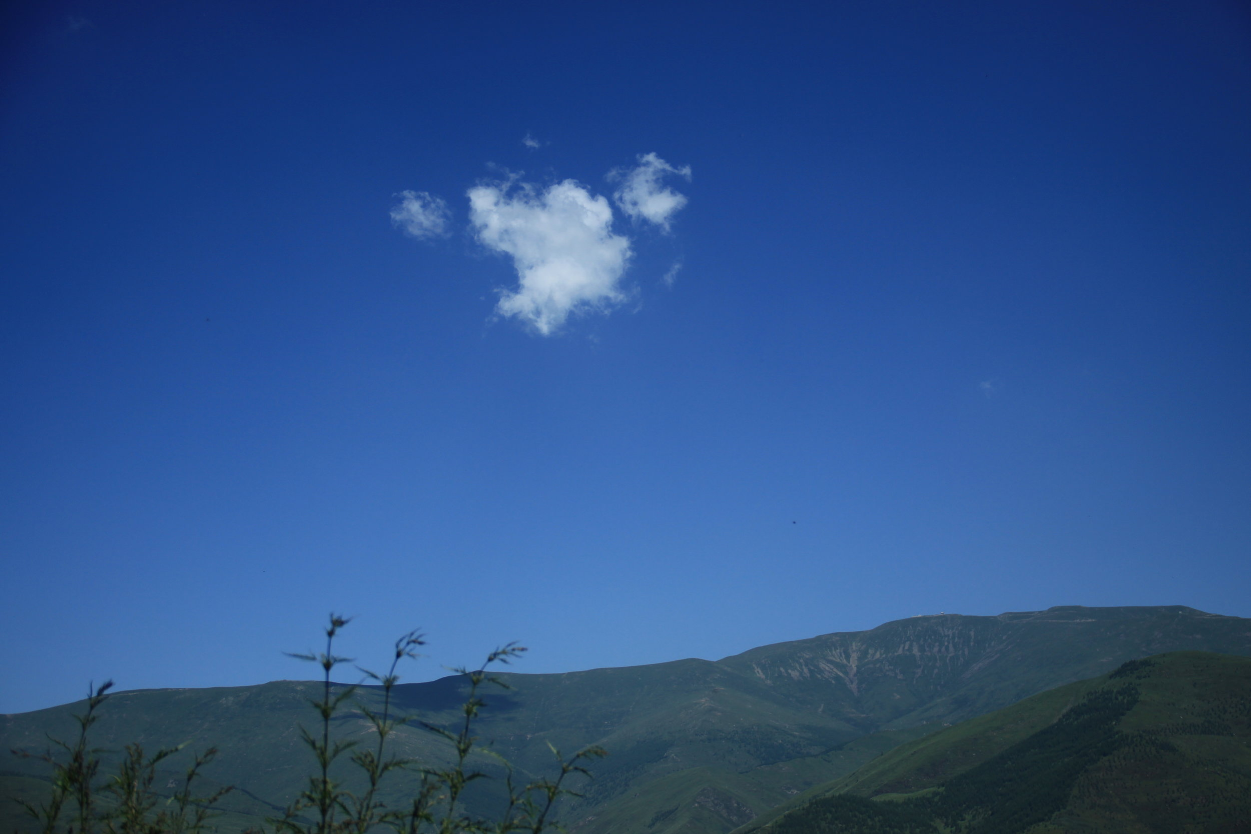Lonely cloud on a summer day