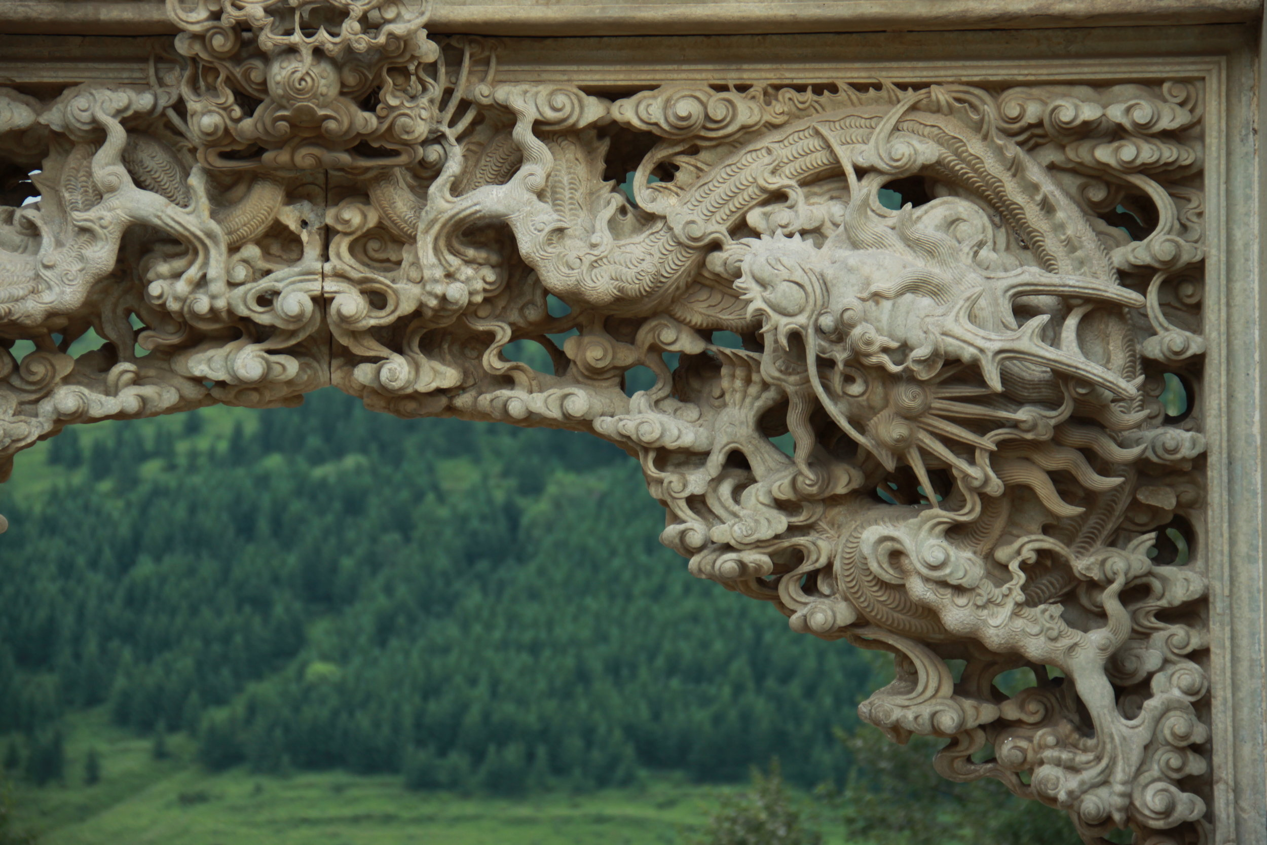 Stone carving at Longquan Temple 龙泉寺 (Dragon Spring Temple)