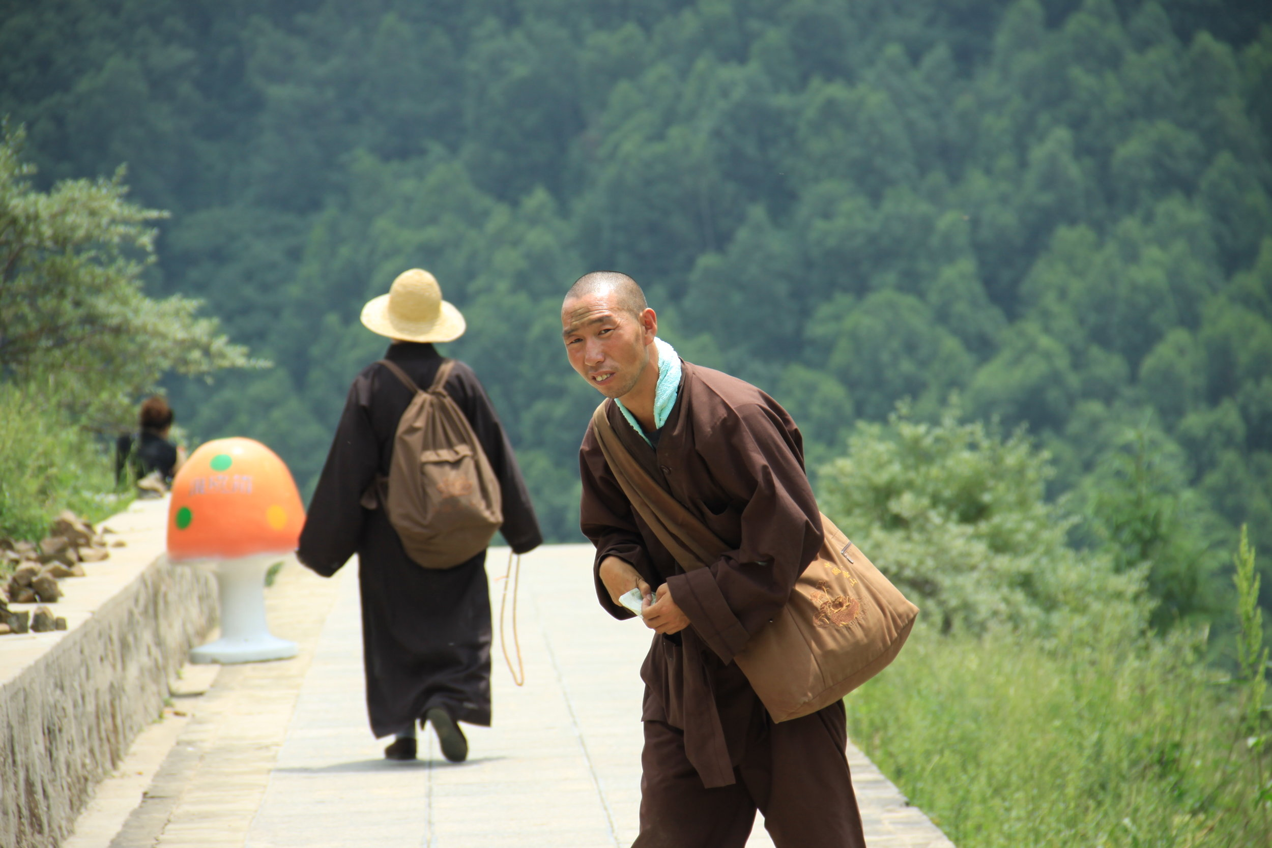 Monk who gave us directions on our way to a temple