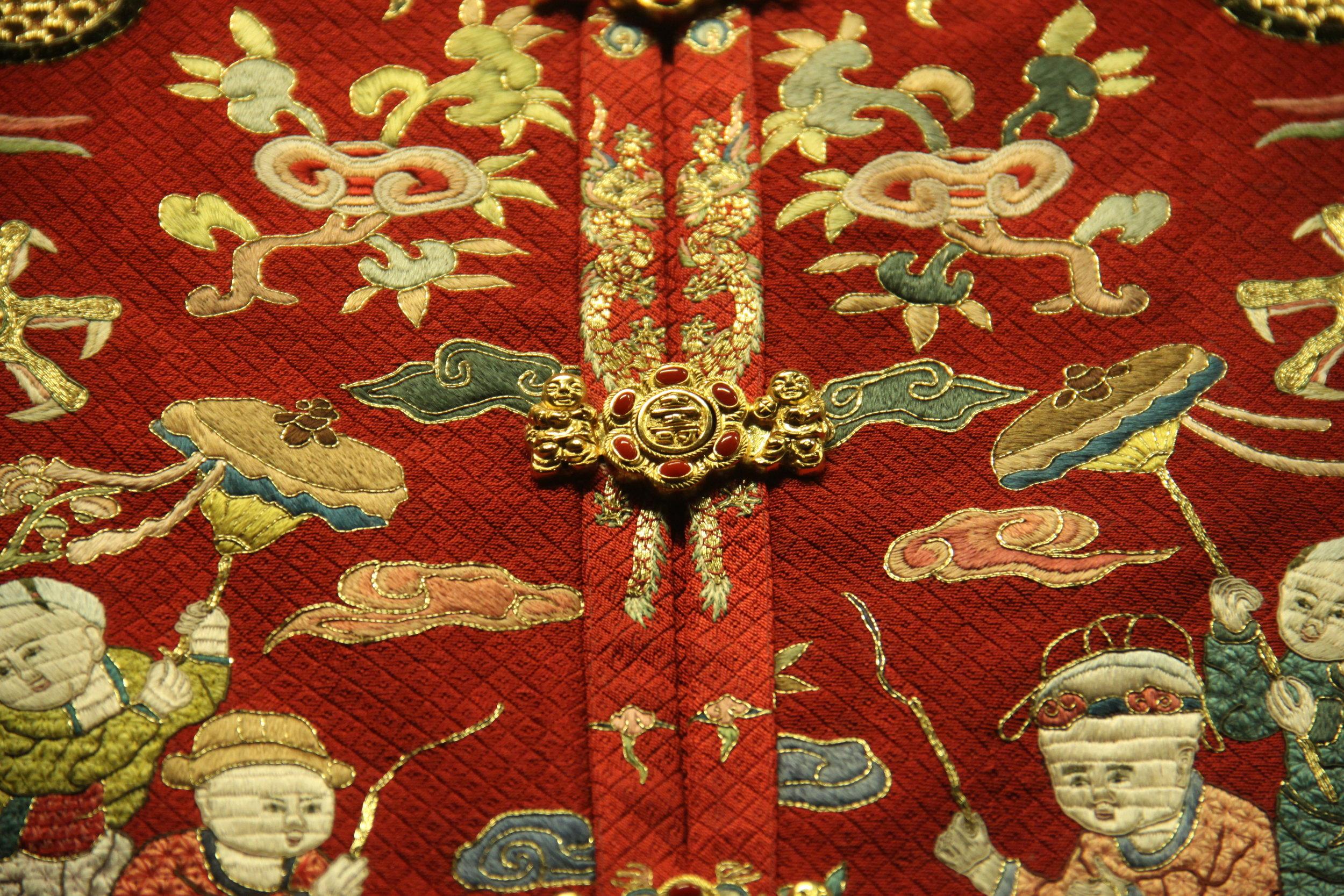 Partial of Ming Dynasty Empress' Hundred Children Jacket
