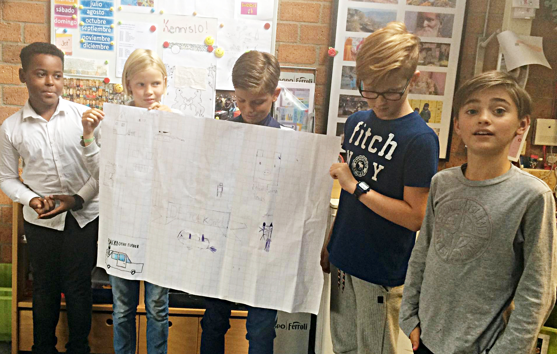 Dutch children share their ideas from an exercise by Teach The Future.