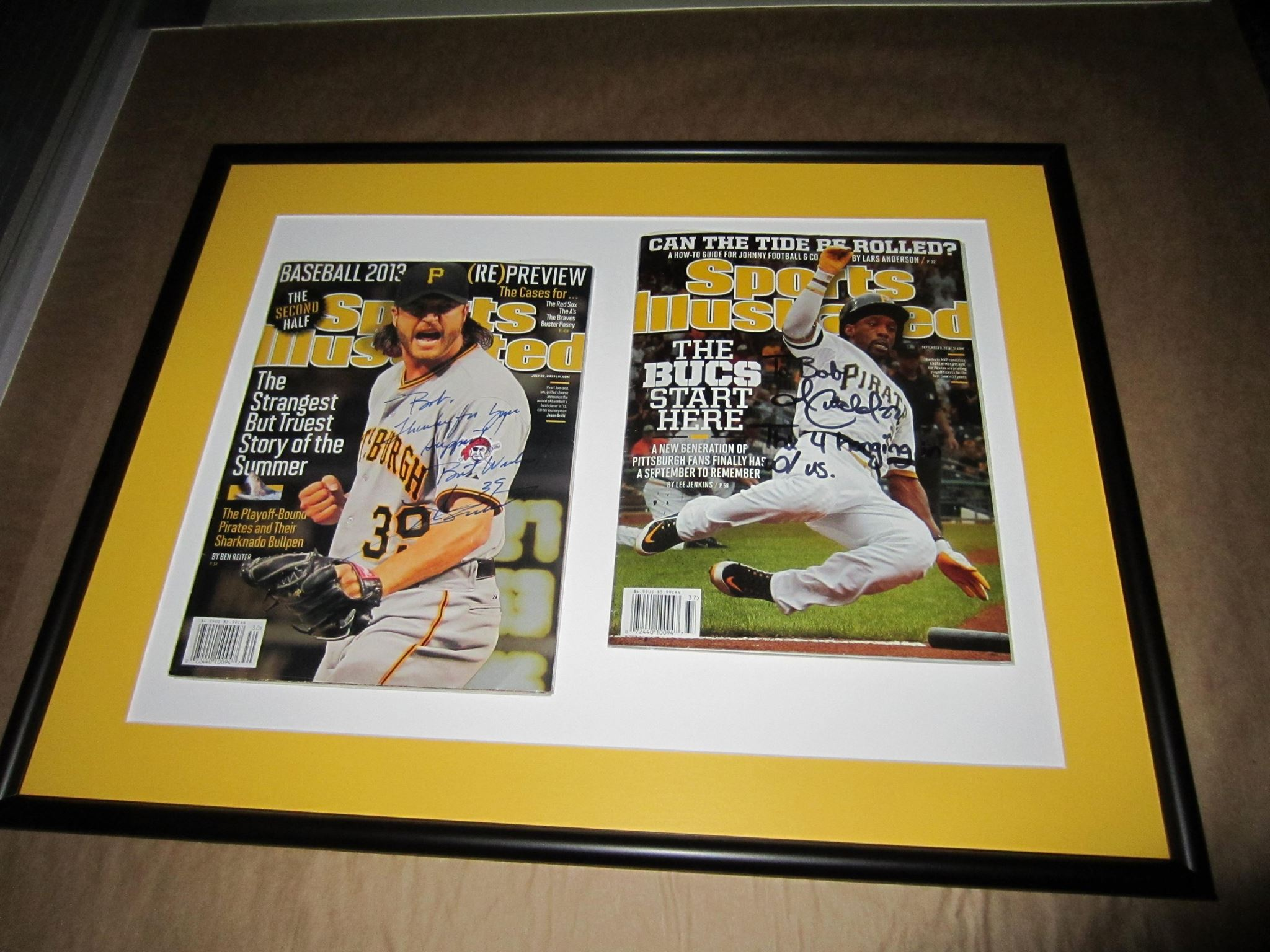 Pittsburgh Pirates Sports Illustrated cover display