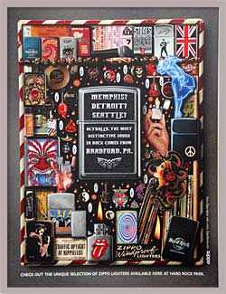 Zippo Ad framed for office display